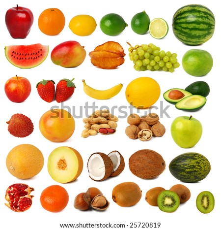 Fruits and nuts collection