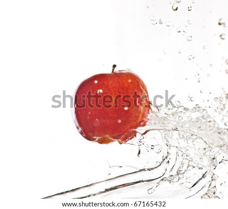 Fruits and splashes