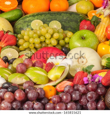 fruits and vegetables #165815621