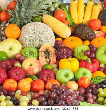 Fruits and vegetables  #183614363
