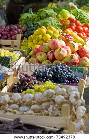 Fruits and vegetables at farmer's market