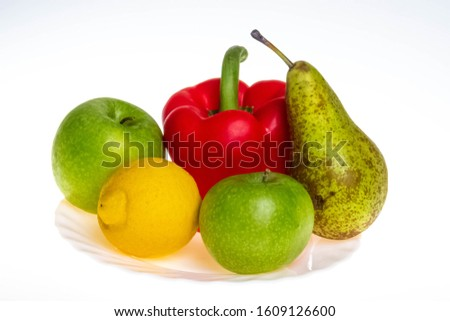 Fruits. Apples, papryka and others Zdjęcia stock ©