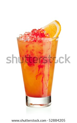 Fruits Cocktail - Orange, Pineapple, Grapefruit, Peach and Grenadine