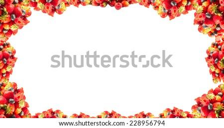 Fruits frame background