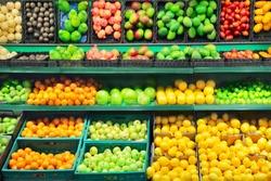 Fruits in supermarket