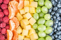 Fruits in the color of the rainbow