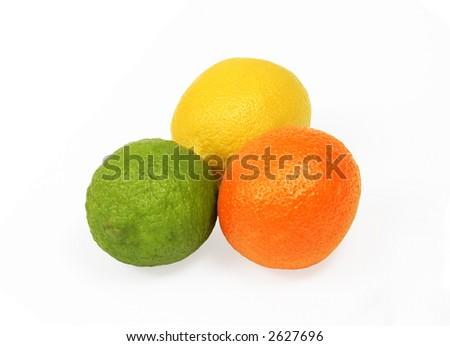 Fruits isolated on white, cp