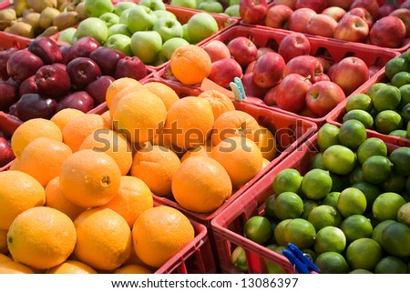 Fruits on a produce market