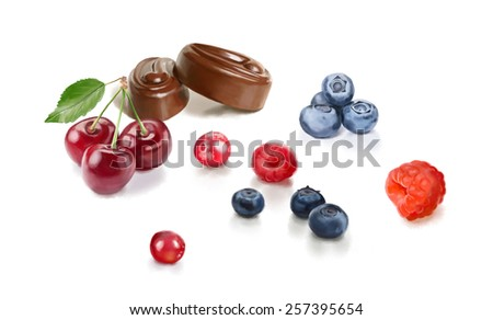 Fruits on a white background #257395654