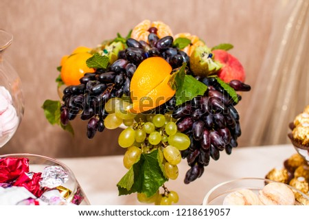 Fruits on the plate #1218619057