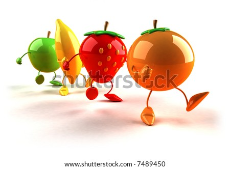 Fruits walking