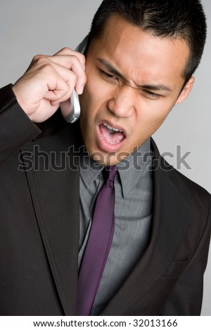 Frustrated Man on Phone