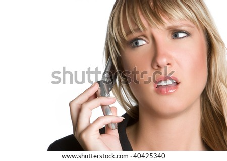 Frustrated Woman on Phone