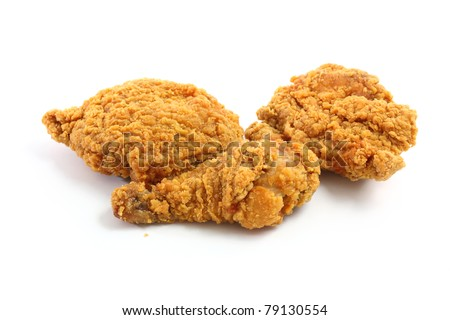Fry chicken isolated in white background