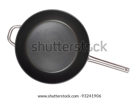 Frying pan isolated over white with clipping path