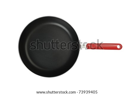 Frying pan. It is isolated on a white background