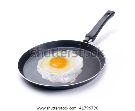 Frying pan with breakfast
