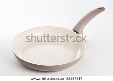 Frying pan with ceramic coating