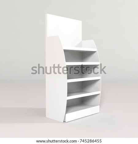FSU free standing unit display mockup retail shelves stand pos posm