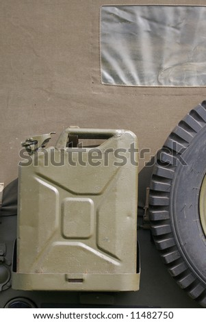 fuel can on back of jeep