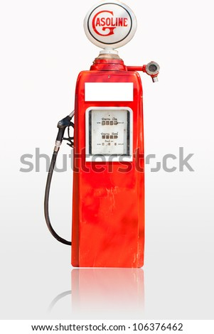 Fuel dispensers on a white background