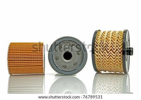 fuel filter and two oil  filters