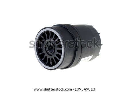 Fuel filter isolated on white.