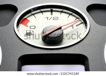 fuel gauge in car dashboard - full #1105745189