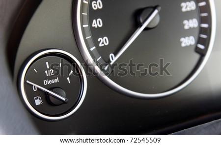 fuel gauge in the car #72545509