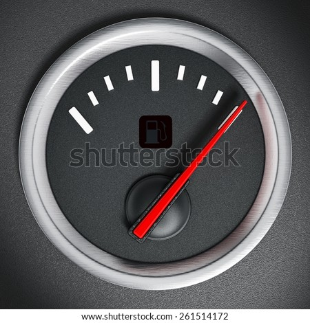 Fuel gauge indicating full fuel tank
