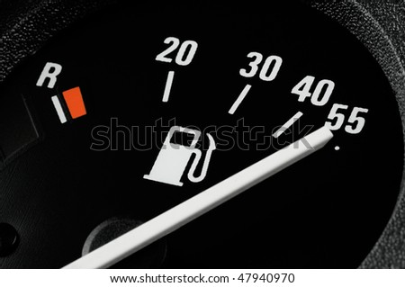 Fuel gauge of a car