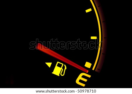 Fuel gauge showing and empty tank