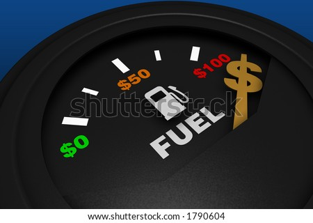 fuel gauge with dollar symbol