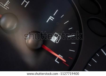 fuel level indicator close-up #1127719400