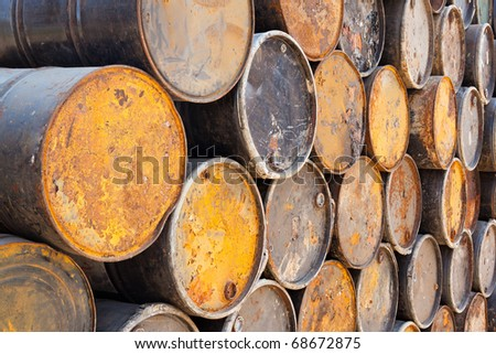fuel old tank that lay altogether keep to is a drum ,