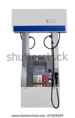 fuel pump station for gasoline isolated on a white background