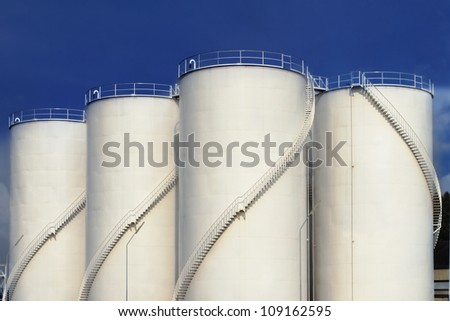 Fuel tank and blue sky