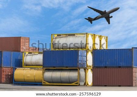 Fuel tank container in Logistic Zone