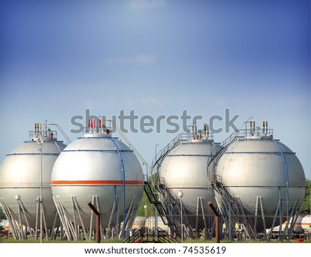 fuel tank in the refinery