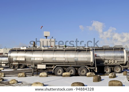 Fuel Tanker Truck at warehouse