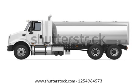 Fuel Tanker Truck (side view). 3D rendering