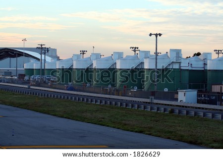 fuel tanks on an airport