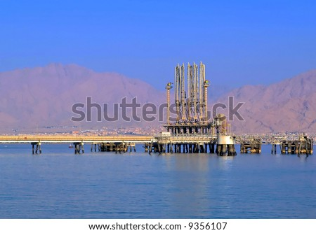 Fuel terminal at Eilat harbor