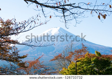 Fuji Mountain.