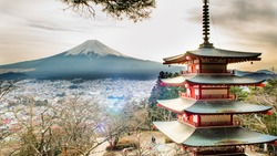 FUJI mountain and Chureito Pagoda