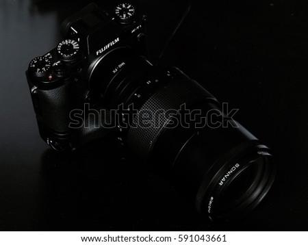 Fujifilm camera body with vintage lens #591043661