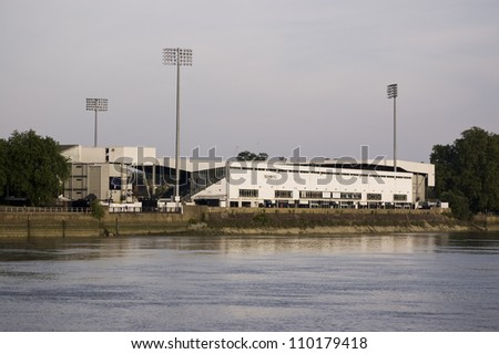 FULHAM, LONDON, ENGLAND - AUGUST 11: Craven Cottage, Fulham Football Club's home ground on August 11 2012, London.  The Club has just received permission to expand the riverside stand by over 4000 seats.