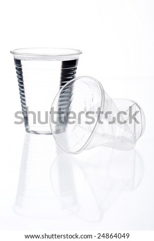 full and empty disposable cup