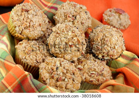 Pumpkin Muffins With Pecan Streusel Topping Recipes — Dishmaps