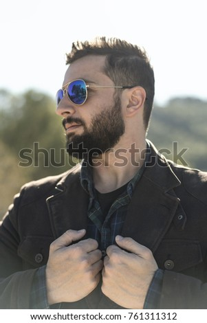 full bearded man with...